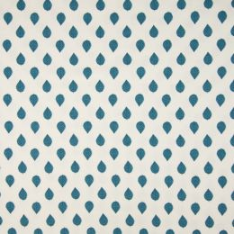 Jersey Cotton Fabric | Leaves Light Petrel