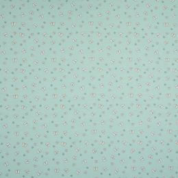 Jersey Cotton Fabric | Butterfly Mint