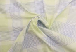 Egyptian Cotton Fabric | Woven Check Blue