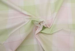 Egyptian Cotton Fabric | Woven Check Pink