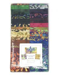 Cotton Fabric Strip Pack Bali Eden - Benartex