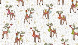 Makower Festive Christmas Fabric | Reindeer