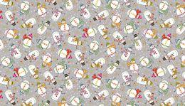 Makower Festive Christmas Fabric | Snowmen