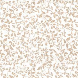 Floral Blender Fabric | Beige on Ivory