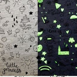 Glow In The Dark Jersey Fabric | Little Princess Grey