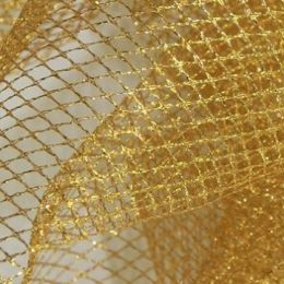 British Glitter Net | Gold