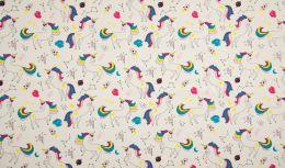 Jersey Cotton Fabric | Unicorn Off White