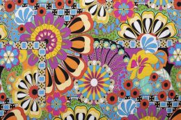 Jersey Cotton Print | Flower Power