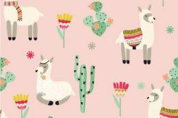 Jersey Cotton Print | Lama Pink