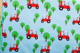 Jersey Cotton Print | Tractor Taupe