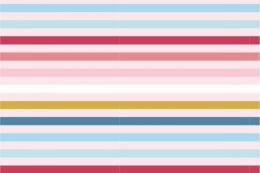 Jersey Cotton Print | Multi Stripe Pastels