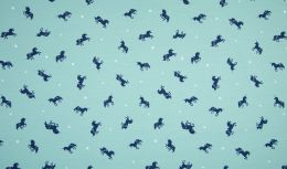 Jersey Cotton Print | Unicorn Mint
