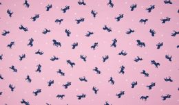 Jersey Cotton Print | Unicorn Rose