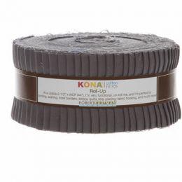 Kona Cotton Fabric Roll Up | Coal