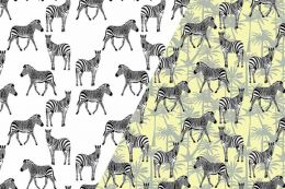 Light Reactive Jersey Fabric | Zebra