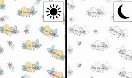 Light Reactive Jersey Fabric | Sloth White