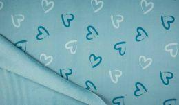 Lizzy Sweatshirt Fabric | Hearts Dusty Mint