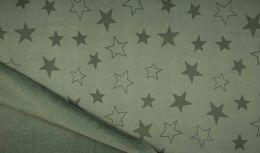 Lizzy Sweatshirt Fabric | Star Khaki