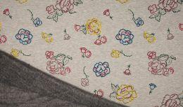 Luxury Sweatshirt Fabric | Digital Flowers