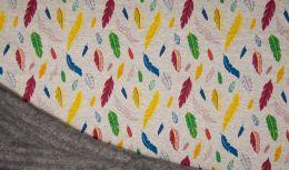 Luxury Sweatshirt Fabric | Feathers