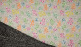 Luxury Sweatshirt Fabric | Melange Multi Colour Unicorns