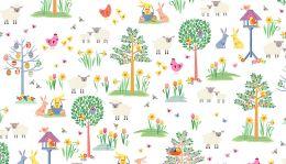 Spring Fabric Makower | Spring Garden White