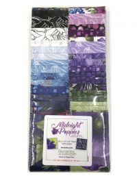 Fabric Strip Pack | Midnight Poppies