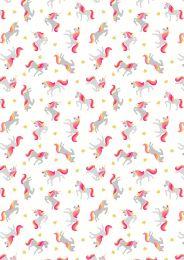 Mystical & Magical Fabric | Unicorns Cream with Gold Metallic