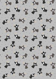 Mystical & Magical Fabric | Wizards Grey with Gold Metallic