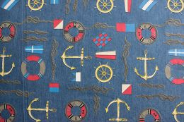 Denim Fabric Print | Nautical