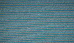 Jersey Cotton Print | Neon Stripes - Aqua