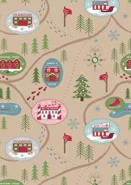 North Pole Christmas | Santa Map On Parchment