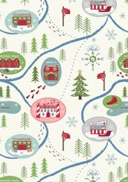 North Pole Christmas | Santa Map On Snow