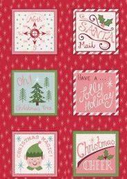 North Pole Christmas | Santa Squares on Festive Red