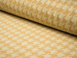 Wool Blend Fabric | Honey Houndstooth