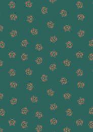 Lewis & Irene Panthera Fabric | Metallic Tiger Green