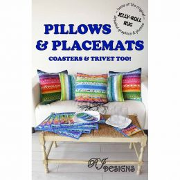 Jelly Roll Rug Cushions & Placemats Pattern   R J Designs