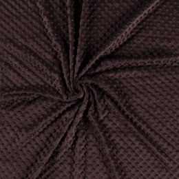 Premium Dimple Fleece | Dark Brown