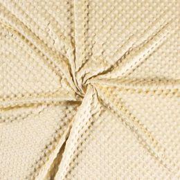 Premium Dimple Fleece | Pale Yellow