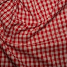 Quarter Inch Gingham Check | Red