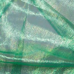 Rainbow Organza Fabric | Emerald