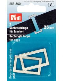 Rectangle Loop For Bags 25mm | Silver | Prym