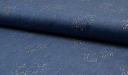 Rhinestone Chambray Fabric | Sparkling Stallion
