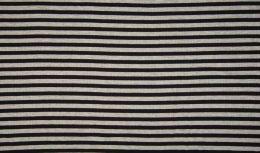 Ribbed Jersey Fabric | 1cm Stripe Black