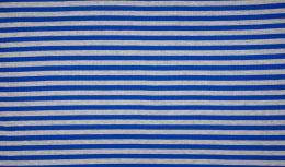 Ribbed Jersey Fabric | 1cm Stripe Royal