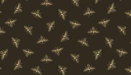 Riviera Rose Fabric | Bee Black