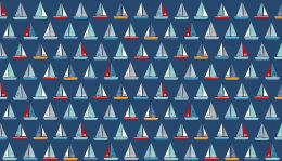 Sail Away Fabric | Yachts Navy