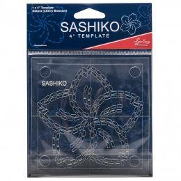 Sashiko Template 4 Inch Sakura - Cherry Blossom