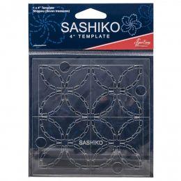 Sashiko Template 4 Inch Shippou - Seven Treasures