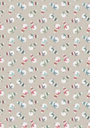 Snow Day Fabric | Scattered Snowmen Cream